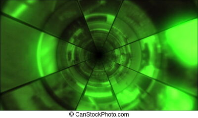 Video Clips Tunnel Vortex Cycle 25P - Fy through infinite 3D...