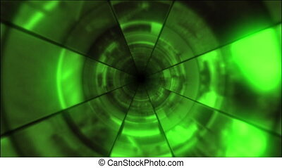 Video Clips Tunnel Vortex Cycle - Fy through infinite 3D...