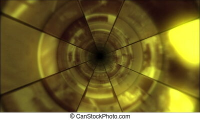 Video Clips Tunnel Vortex Gold - Fy through infinite 3D...