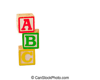 ABC Blocks Stacked 3 - Alphabet blocks stacked and staggered...