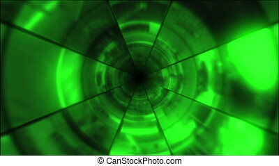 Video Clips Tunnel Vortex Green 24P - Fy through infinite 3D...