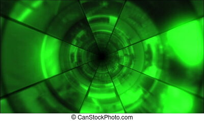 Video Clips Tunnel Vortex Green 30P - Fy through infinite 3D...