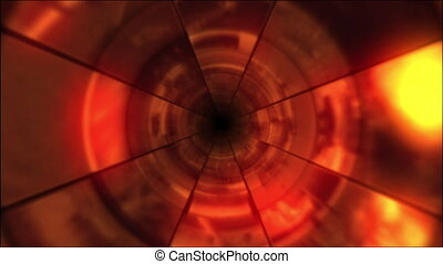 Video Clips Tunnel Vortex Red 25P - Fy through infinite 3D...