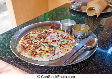 Uttapam, traditional South Indian breakfast