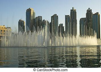 famous dubai musical fountain, United Arab Emirates