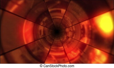 Video Clips Tunnel Vortex Red - Fy through infinite 3D...