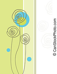 Delicate garden in abstract style.