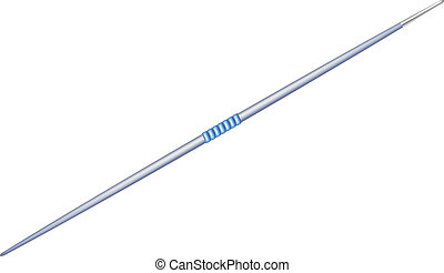 Javelin with metal tip - Javelin in blue design with metal...