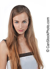 young woman - Photo of beautiful young woman with blonde...