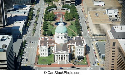 Capitol Aeiral - A view high above St. Louis