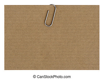 design paper with paperclip