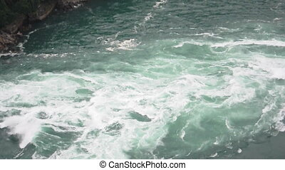 Niagara Rapids - A close view of the rapids of Niagara Falls...