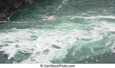 Niagara Rapids - A close view of the rapids of Niagara Falls...