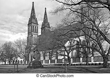 Gothic cathedral of Vysehrad - Gothic church of St Peter and...