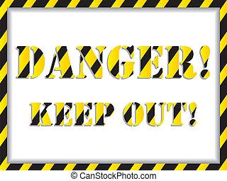 Danger! background