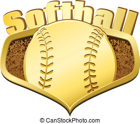 Gold Softball Shield