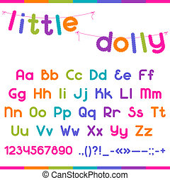 Little Dolly funny kid font.