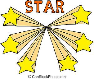 Shooting stars. Vector illustration