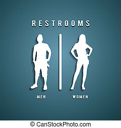 Restroom Signs, Vector illustration