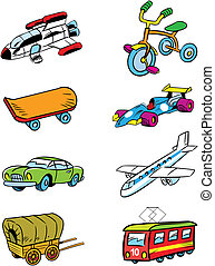 variety of vehicles - The illustration shows some types of...