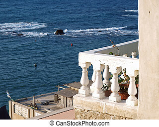 Balcony porch with view of the Mediterranean