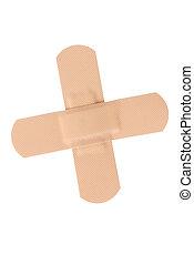 Bandage cross isolated on white background