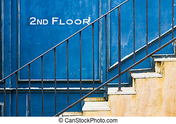 Vintage stair - The vintage stair  from old building  style