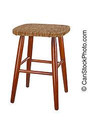 Stool - Old stool isolated on white background