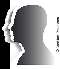 Crowd - heads - teamwork - Vector heads - abstract image -...