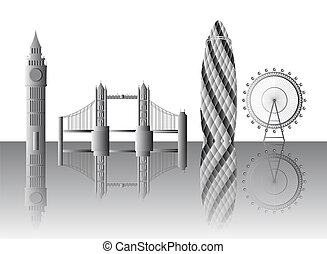 London landmarks - Vector illustration of the London...