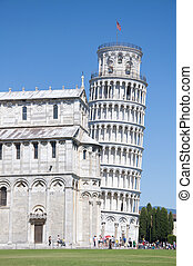 Leaning Tower of Pisa - A view of the Leaning Tower of Pisa,...