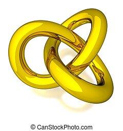 3D Gold Knot