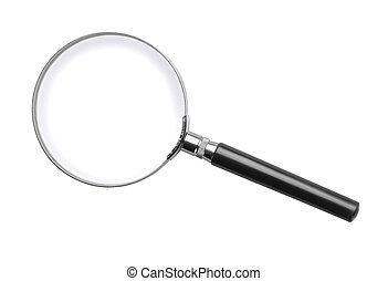 Magnifying glass - Classic magnifying glass isolated on...