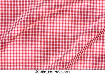 Red and white wavy tablecloth - Red and white gingham...