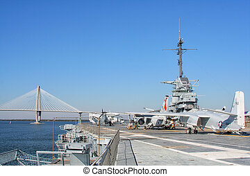 USS Yorktown Aircraft Carrier in Charleston, USA - USS...