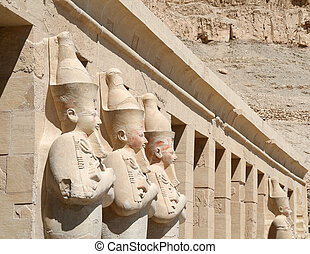 Details of Hatshepsut Temple , Egypt