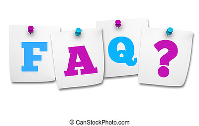 Faq And Question Mark On Post It - Website and Internet...