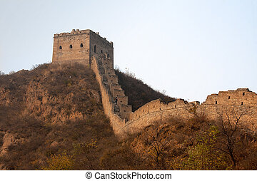 Great Wall, China - Great Wall in the early evening light,...