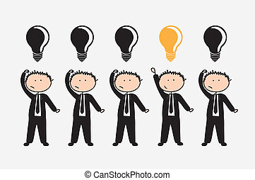 business people over white background vector illustration