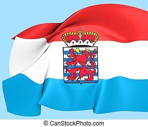 Flag of Luxembourg Province, Belgium Close Up