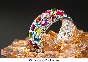 bracelet with color gems