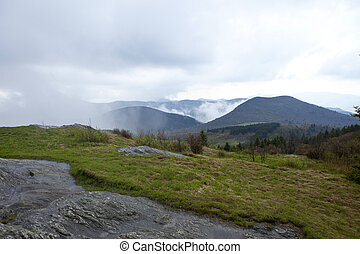 great smoky mountains in rain