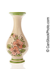 Vase ornate with pink flowers