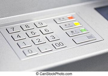 ATM cash machine pin code