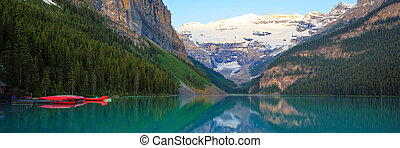 Lake Louise, Red Canoe, Banff National Park - Lake Louise...