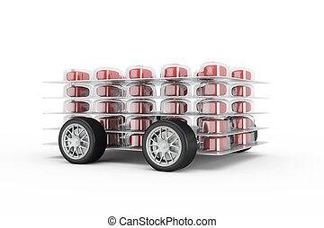 Pills fast delivery with read pills and wheels