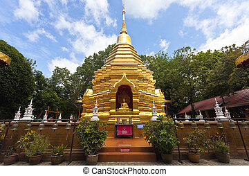 Wat Phan On temple in Chiang Mai, Thailand.