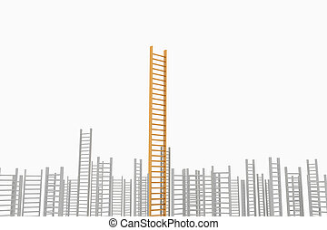 concept idea of success and perman - Ladder leader, as a...