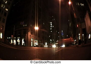 Streets NY - Pedestrians and cars going along their way