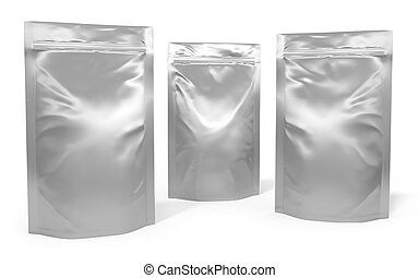Three foil bag packages